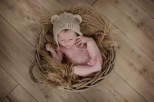 newborn estudio cesto