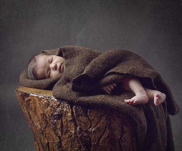 newborn estudio tronco