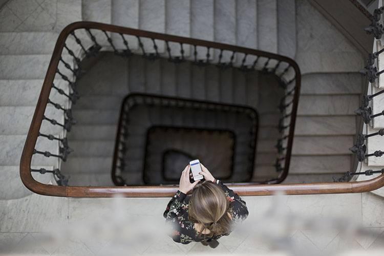 oficina barcelona escaleras movil